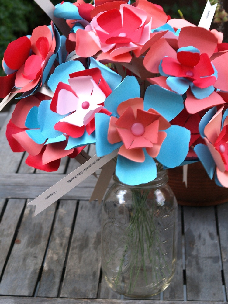 DIY Paper Flowers - Teacher Appreciation Week