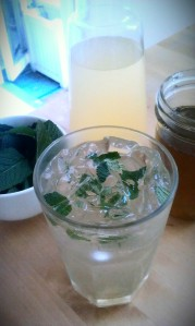 Prosecco with Ginger Lemonade and Mint