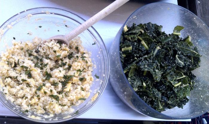 Kale Salad & Quinoa Salad