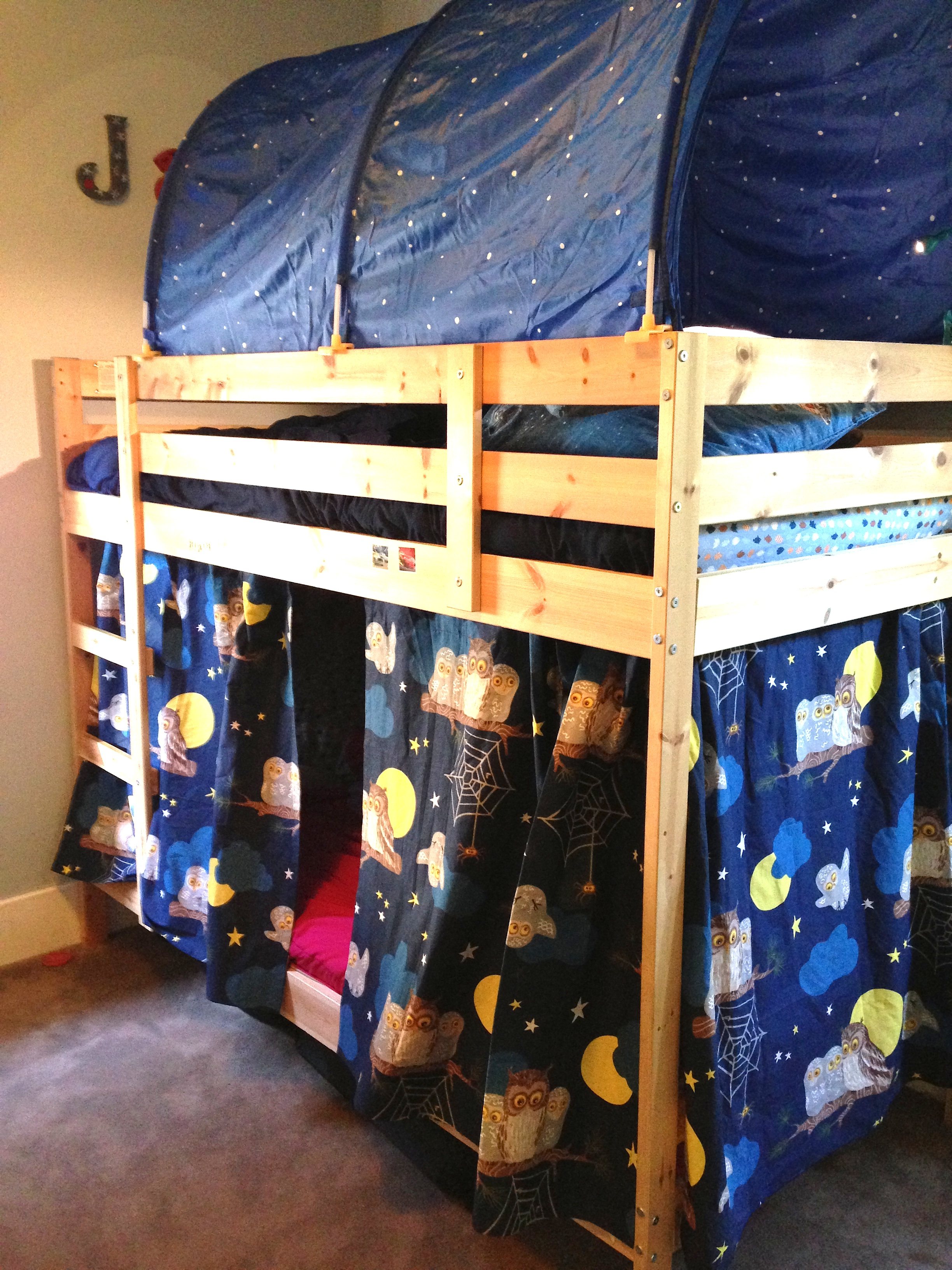 Bunk bed curtains - After