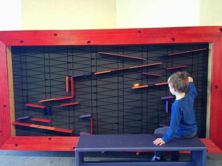 We spent lots of time building, testing, rebuilding our ball runs. I want this in my house!