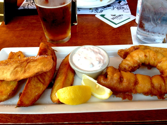 Fish, Chips, & Beer.