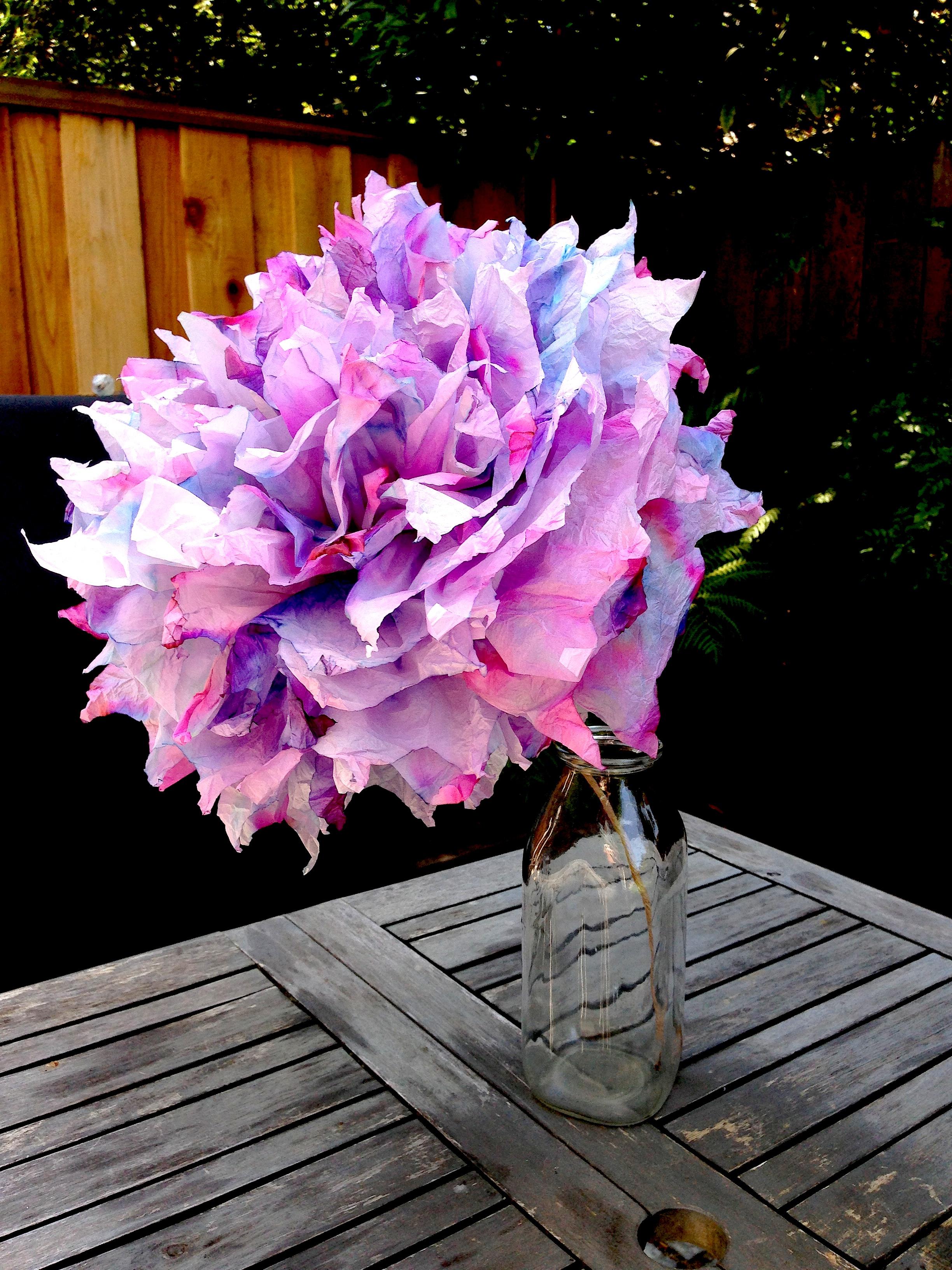 Tie Dye Tissue Paper Flowers Fumbleweeds