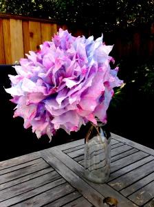Tie Dye Tissue Flowers