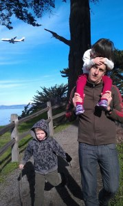 On a walk at Coyote Point a few months back. We love this spot.