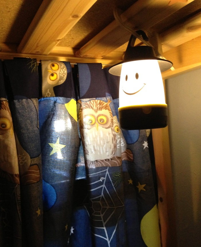 Gotta have lanterns inside, especially happy ones.