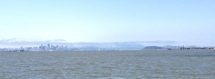 My Run: San Francisco on the left, Oakland on the right.