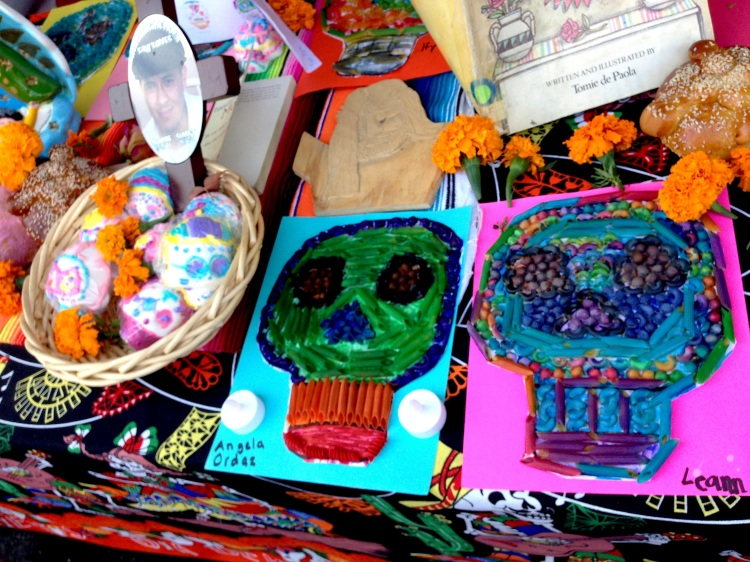 The St Jarlath School kids made these amazing sugar skulls and pasta pictures as well.