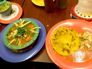 Tortilla Soup & Papusa goodness