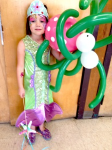 Birthday Mermaid and her Octopus sidekick.